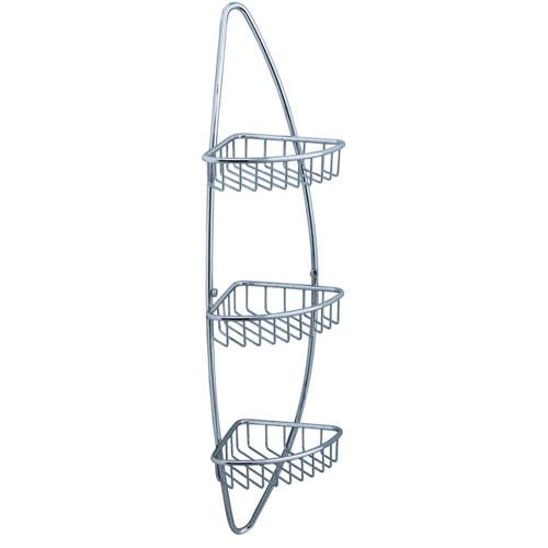Fresca Magnifico Bathroom 3 Tier Corner Chrome Finish Wire Basket Shelf