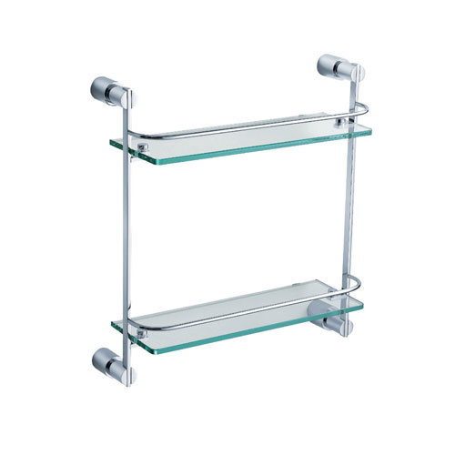 Fresca Magnifico 2 Tier Double Tempered Glass Shelf Chrome