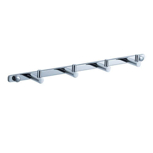 Fresca Magnifico Chrome Bathroom Hooks Multi Robe Hook Wall Mounted Bar