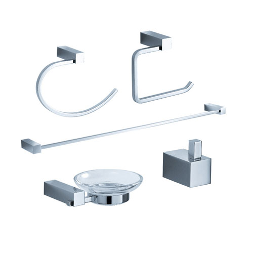 Fresca Ottimo Bathroom Accessories 5-Piece Bathroom Accessory Set Chrome