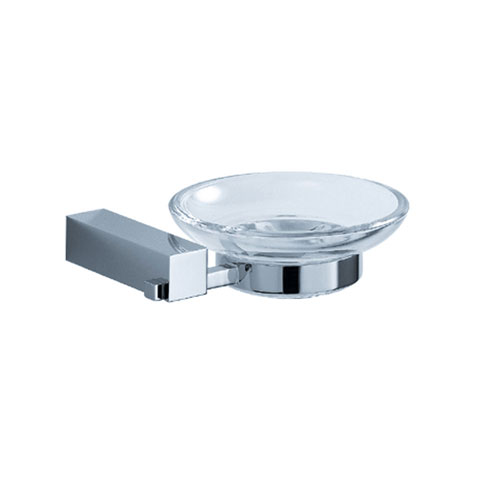 Fresca Ottimo Clear Bathroom Accessory Soap Dish Chrome Finish