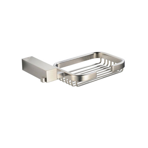 Fresca Ottimo Bathroom Accessories, Wall Mount Brushed Nickel Soap Basket
