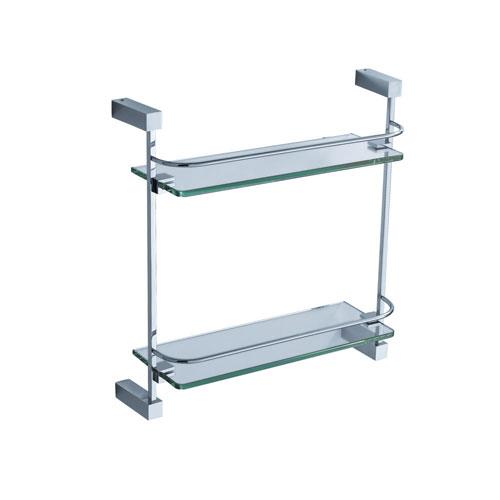 Fresca Ottimo 2 Tier Double Tempered Glass Shelf Chrome
