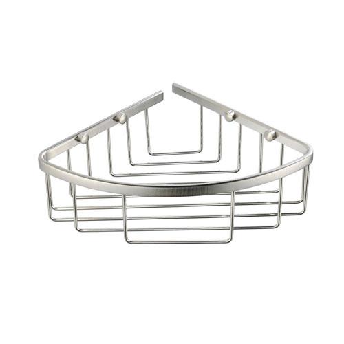 Fresca Bathroom Chrome Finish Single Corner Wire Basket Shelf