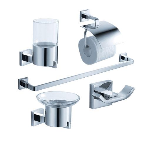 Fresca Glorioso Bathroom Accessories 5-Piece Bathroom Accessory Set Chrome