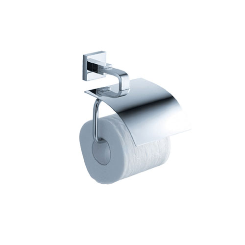 Fresca Glorioso Modern Bathroom Chrome Toilet Paper Holder With Cover