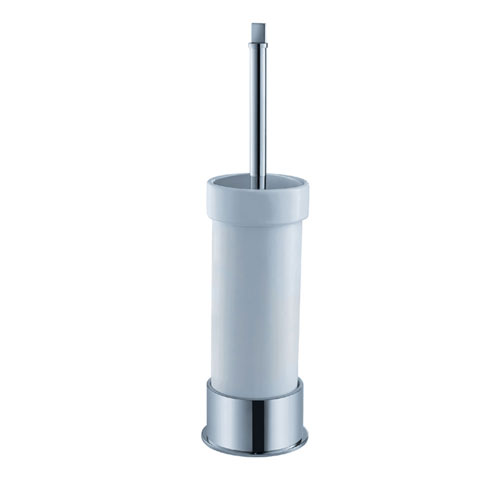 Fresca Glorioso Modern Standing Ceramic Toilet Brush Holder Chrome