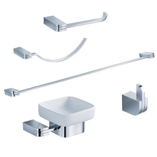 Fresca Solido Bathroom Accessories 5-Piece Bathroom Accessory Set Chrome