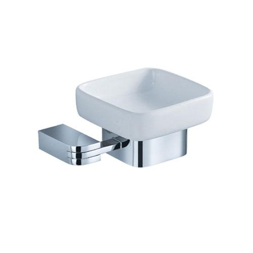 Fresca Solido Modern Square Chrome Bathroom Accessory Soap Dish