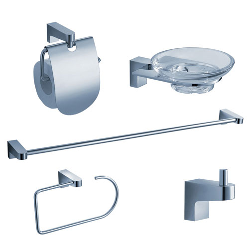 Fresca Generoso 5-Piece Bathroom Accessory Set Chrome