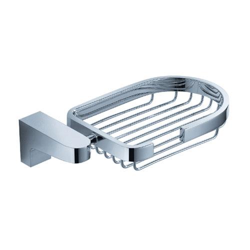 Fresca Generoso Bathroom Accessories, Wall Mount Chrome Soap Basket
