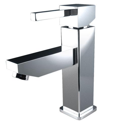 Fresca Bevera Single Hole Mount Square Modern Bathroom Faucet Chrome