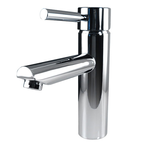 Fresca Tartaro Single Hole Mount Cylindric Bathroom Vanity Faucet Chrome