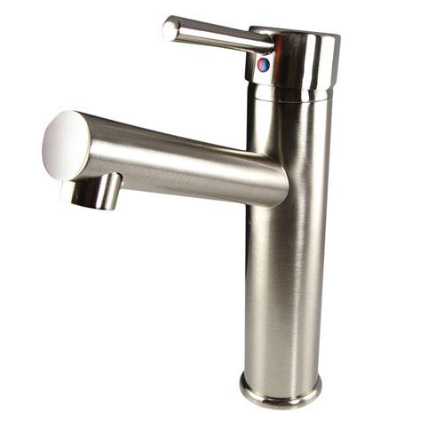 Fresca Savio Single Hole Mount Bathroom Vanity Faucet Brushed Nickel