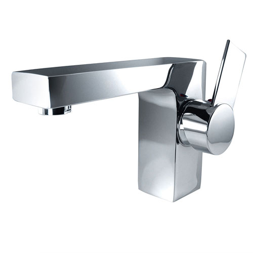 Fresca Isarus Modern Single Hole Mount Bathroom Vanity Faucet Chrome