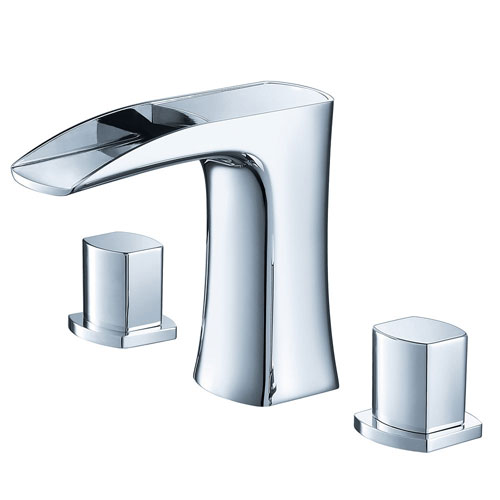 Fresca Fortore Modern Chrome Widespread Mount Bathroom Vanity Sink Faucet