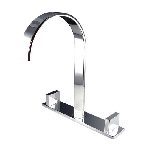 Fresca Sesia Modern 2 Handle Widespread Bathroom Vanity Sink Faucet Chrome