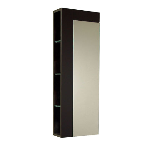 Fresca espresso tall bathroom storage cabinet large - Tall bathroom storage cabinets with doors ...