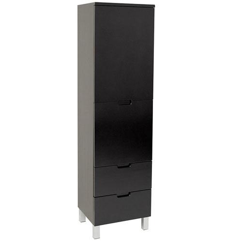 Fresca Espresso Tall Bathroom Storage Side Cabinet Tower with 4 Storage Areas