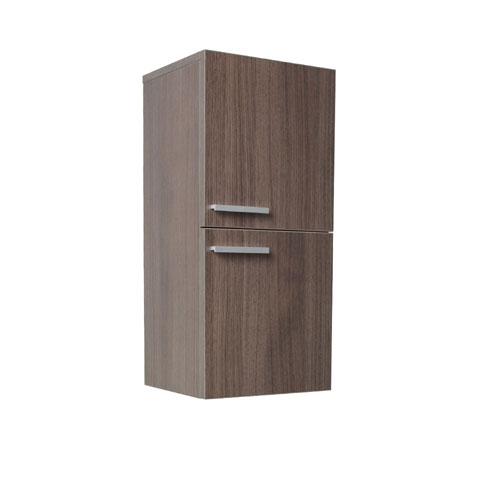 Fresca Gray Oak Bathroom Linen Storage Side Cabinet with 2 Storage Areas
