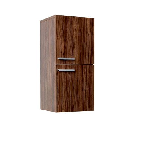 Fresca Walnut Bathroom Linen Side Storage Cabinet with 2 Storage Areas