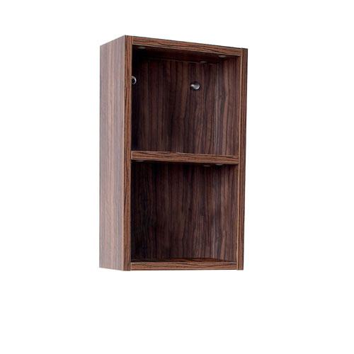 Fresca Walnut Wall Mounted Bathroom Linen Side Cabinet with 2 Open Storage Areas