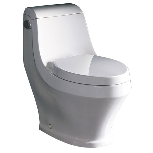 Fresca Volna White Modern One Piece Toilet with Toilet Seat