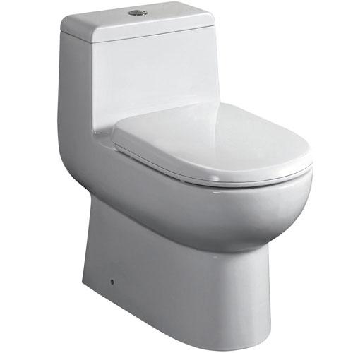 Fresca Antila White Modern One Piece Dual Flush Toilet with Soft Close Toilet Seat