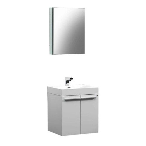Fresca Alto White Wall Mounted Bathroom Vanity W Medicine Cabinet Fauc