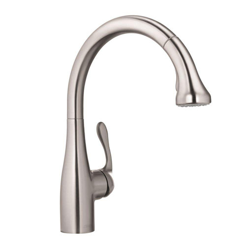 HansGrohe Allegro E Single-Handle Pull-Out Sprayer Kitchen Faucet in Steel Optik 415049