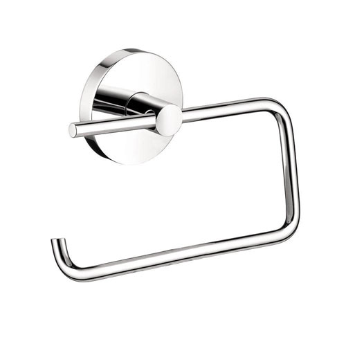 HansGrohe S/E Brass Single-Post Toilet Paper Holder in Chrome 416441