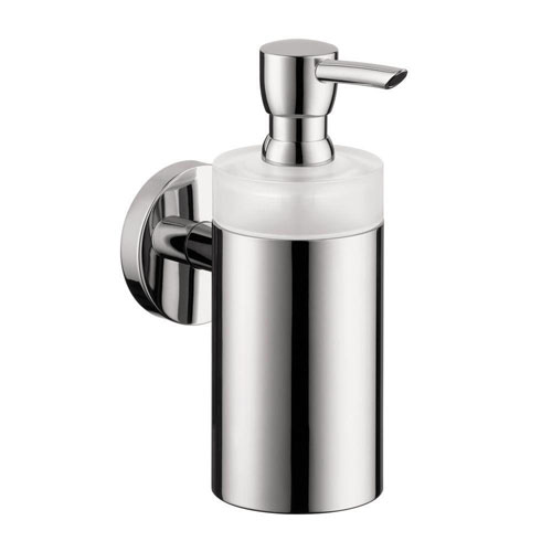 HansGrohe Wall-Mount Brass and Plastic Soap Dispenser in Chrome 416545