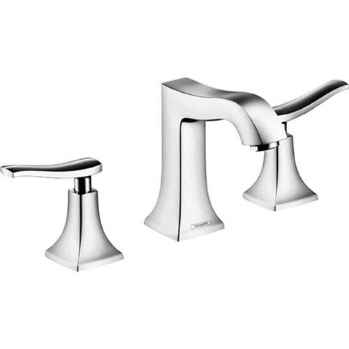 HansGrohe Metris C 8 inch 2-Handle Mid-Arc Bathroom Faucet in Chrome ...