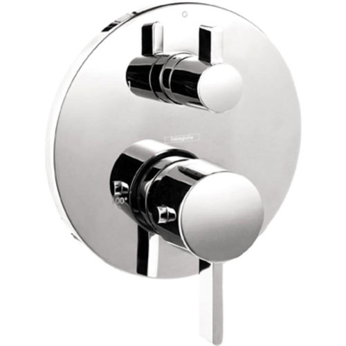 HansGrohe Metris S 2-Handle Thermostatic Valve Trim Kit with Volume Control in Brushed Nickel (Valve Not Included) 512996