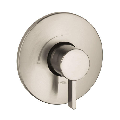 HansGrohe Metris S 1-Handle Pressure Balance Valve Trim Kit in Brushed Nickel (Valve Not Included) 513004