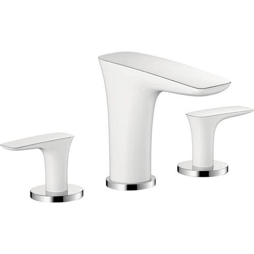 HansGrohe PuraVida 8 inch Widespread 2-Handle Low-Arc Bathroom Faucet in Chrome 514184