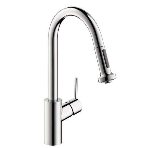 HansGrohe Talis S Single-Handle Pull-Down Sprayer Kitchen Faucet in Chrome 547751