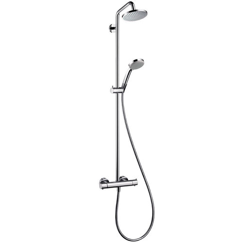 HansGrohe Croma 4-Spray Handshower and Showerhead Combo Kit in Chrome 575524