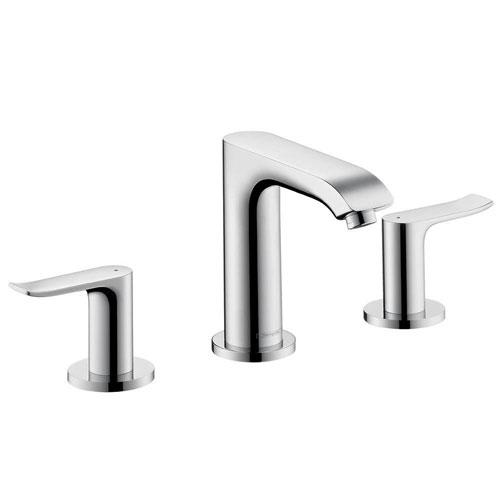 HansGrohe Metris 8 inch Widespread 2-Handle Low-Arc Bathroom Faucet in Chrome 575535