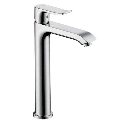 HansGrohe Metris E 200 Single Hole 1-Handle High Arc Bathroom Faucet in Chrome 575546