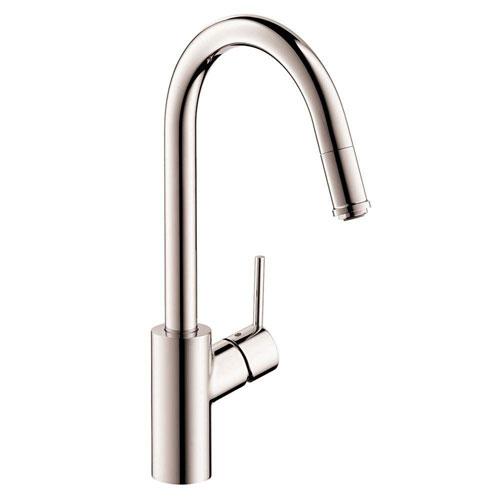 HansGrohe Talis S2 Single-Handle Kitchen Faucet 1-Spray in Steel Optik 575863