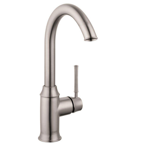 HansGrohe Talis C Single-Handle Bar Faucet in Steel Optik 576650