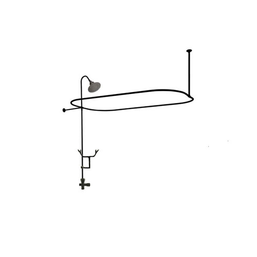 Oil Rubbed Bronze Clawfoot Tub Shower Conversion Kit With Enclosure Cu Fauc