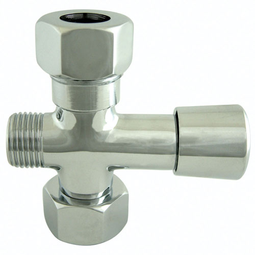 Kingston Chrome Shower Diverter With Button For Use With