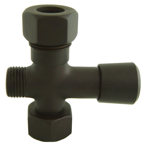 Kingston Rubbed Bronze Shower Diverter button for use with Clawfoot tub Faucet