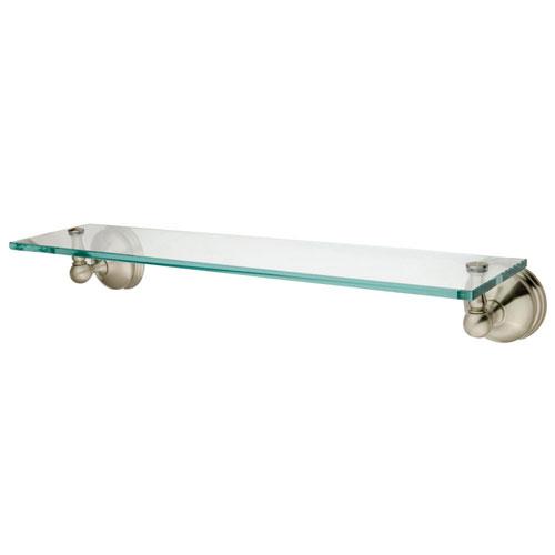 Kingston Tempered Bathroom Glass Shelves Satin Nickel Glass Shelf BA1169SN