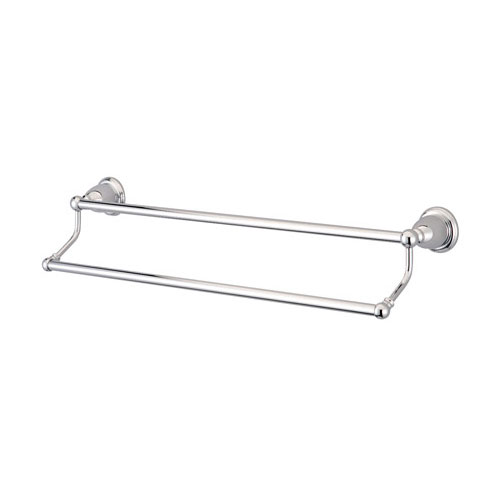 bathroom accessories chrome 24 double towel bar dual