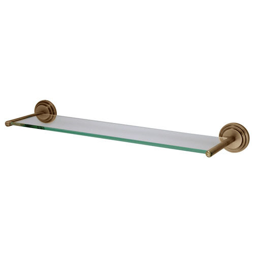 Kingston Tempered Bathroom Glass Shelves Vintage Brass Glass Shelf BA2719AB