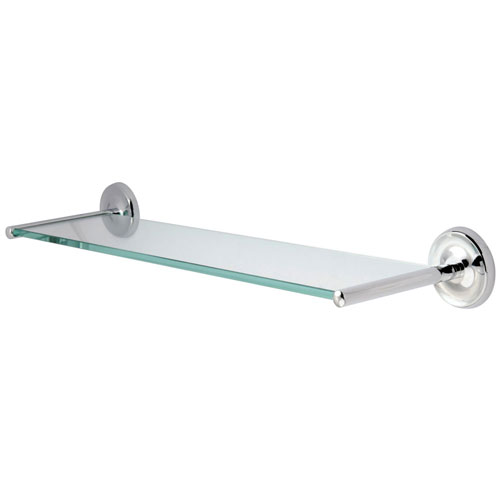 Kingston Brass Tempered Bathroom Glass Shelves Chrome Glass Shelf BA319C