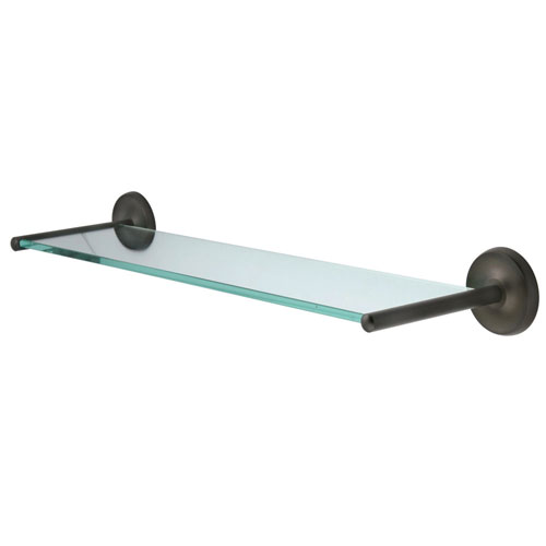 Kingston Tempered Bathroom Glass Shelves Oil Rubbed Bronze Glass Shelf BA319ORB